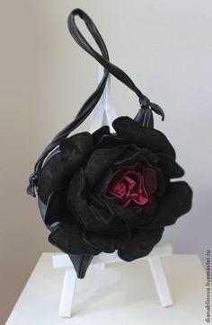"""""""Роза МАКСИ"""" (""""черная роза"""") - сумка оригинальная,сумка ручной работы"""