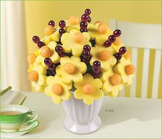 fruit bouquet with pineapple flowers