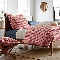 ???  Darby Dot Percale Duvet Cover & Sham | company store .... might be cute as sheets for a pop of color