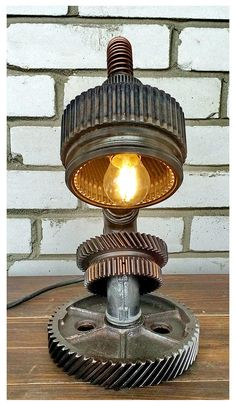 Industrial lamp table Homemade industrial lamp Dining room