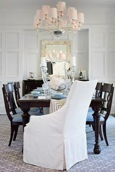 Even more traditional dining furniture can feel youthful and fun when combined with the right accessories