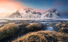 Download wallpapers 4k, Iceland, sea, coast, mountains, Europe