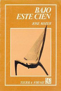 Entrevista al poeta José Kozer.  Fondo de Cultura Económica, México, 1983. 3000 ejemplares. Tres secciones que no coinciden con el índice: Álbum de familia Tumba (fénix) de amor Trípticos
