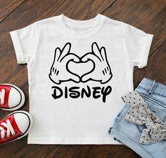Disney Shirts - Mickey Love Hands - Kids Disney Shirts - Disney shirts for girls - Disney Family Shirts - Disney shirts boys -Disney toddler Matching Disney Shirts, Disney Shirts For Family, Shirts For Teens, Family Shirts, Kids Shirts, Disney Family, Disneyland Outfits, Disneyland Shirts, Disney Outfits