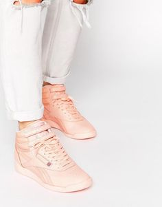 61d68a4e260f46 Reebok Hi Spirit Coral High Top Trainers at asos.com