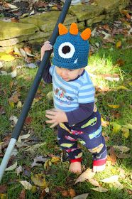 The Boy Trifecta: Crochet Monster Hat Pattern