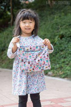 Little Messenger Bag Free Pattern Girls Messenger Bag, Sewing For Kids, Free Pattern, Sewing Projects, Grandkids, Larger, Coloring, Bags, Clothes