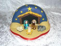 Nativity half moon cake