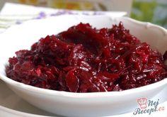 10 receptů z červené řepy, které Vás ochrání před únavou a pomohou doplnit vitamíny | NejRecept.cz Kraut, Cabbage, Beef, Vegetables, Cholesterol, Fitness, Diet, Brussels Sprouts, Vinegar