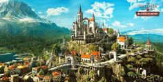 During a panel at PAX East CD Projekt RED revealed a new detail on the upcoming new expansion for The Witcher Wild Hunt, Blood And Wine. The Witcher 3, Witcher Art, Witcher 3 Wild Hunt, Fantasy City, Fantasy Castle, Fantasy Places, Elven City, Elfen Fantasy, Yennefer Of Vengerberg