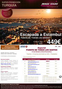 ESTAMBUL, Puente Todos los Santos varios origenes, 31/10 al 03/11 desde 449€ precio final - http://zocotours.com/estambul-puente-todos-los-santos-varios-origenes-3110-al-0311-desde-449e-precio-final/