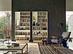 Libreria a parete in multistrato D.357.1 by MOLTENI & C. | design Gio Ponti