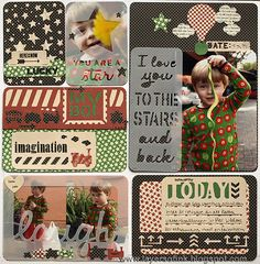 Layers of ink - Laugh Today Layout, made with Sizzix Life Made Simple dies and papers by Graphic 45.