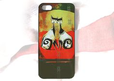 Funny Cats iPhone 5 case cats and heart iPhone by HappyStripedCats, $15.00