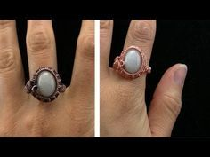 Wire Wrapped Cabochon Ring Tutorial - Also same designer : https://www.youtube.com/watch?v=mTfUhAiy7oc https://www.youtube.com/watch?v=ASTvN7bddhw