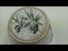 (91) Decoupage on mason jar-olives theme/Ντεκουπάζ σε βαζάκια-ελιές - YouTube Decoupage Glue, Mason Jars, Plates, Tableware, Youtube, Diy, Painting, Manualidades, Licence Plates