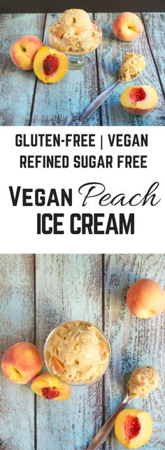 Vegan Peach Ice Cream (GF, DF, V, RSF) - A Dash of Megnut
