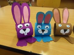 Easter bunny craft idea for kindergarten – Preschoolplanet crafts for kindergarten Easter bunny craft idea for kindergarten Paper Towel Roll Crafts, Toilet Paper Roll Crafts, Bunny Crafts, Easter Crafts For Kids, Easter Activities, Preschool Crafts, Preschool Worksheets, Easter Projects, Projects For Kids