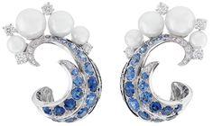 VAN CLEEF AND ARPELS Seven Seas Collection Mer De Vent Sapphire Earring