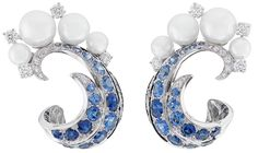 VAN CLEEF AND ARPELS Seven Seas Collection Mer De Vent Sapphire Earring