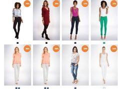 Mais de 90 modelos de calças jeans e legging - Moda fem. - Moda - Ofertas - Compartilhamos cupons de desconto, ofertas relâmpago...