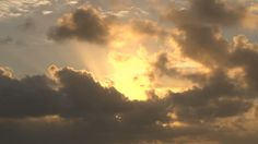 Image result for overcast sky sun ray