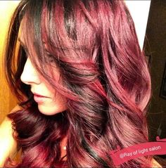 Fabulous Red Color with a Touch of Black Highlights going threw it!