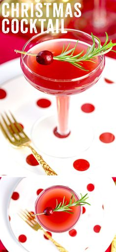 The ultimate Christmas cocktail with a side of cranberry! :) Pizzazzerie.com