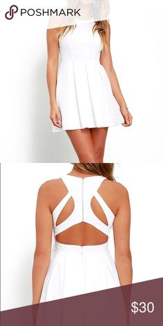 Lulus Exclusive Test Drive White Dress Bought a bunch of dresses for graduation and didn't end up wearing this! Never been worn! Lulu's Dresses
