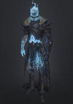 the deathbringer, lich, necromancer, death mage, blood magic, boss - ArtStation - prateice, YONGXIANG MU