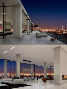 Modern home.... LOVE the huge open space and windows!! Would have different…