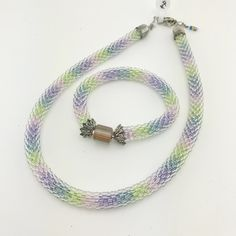 Crocheted Rope Necklace & Bracelet