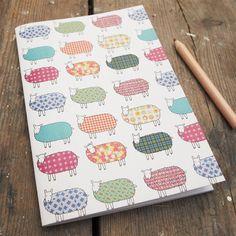Sheep Pattern Notebook by MaryKilvert on Etsy