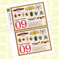 Invite from the Bug Bash DIY Printable Collection by Spaceships and Laser Beams. $12.00, via Etsy.