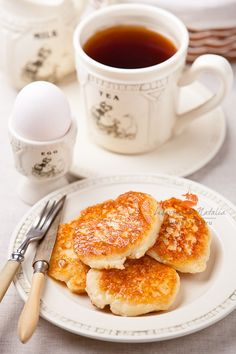 Coffee and Silver Dollar Pancakes