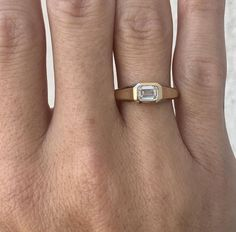 Emerald Cut Rings, Emerald Cut Diamonds, Diamond Shapes, Diamond Cuts, Signet Ring, Fine Jewelry, Jewellery, Ring Designs, Gold Rings