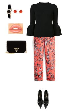 Untitled #186 by piantina on Polyvore featuring polyvore fashion style Carolina Herrera J.Crew Yves Saint Laurent Prada Marc by Marc Jacobs Henry Dunay clothing