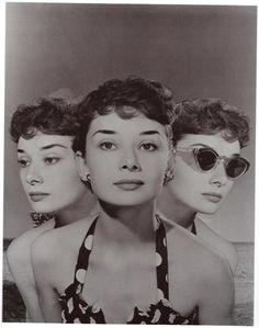 Audrey Hepburn (composite portrait) by Angus McBean, 1951.