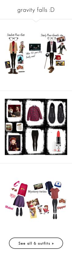 """""""gravity falls :D"""" by dana-yunger ❤ liked on Polyvore featuring Topshop, Charlotte Russe, Valentino, Theory, Miss Selfridge, GlassesUSA, Elizabeth and James, Maesta, ASOS and Ollio"""