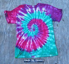 Raspberry Fields Spiral Tie Dye TShirt
