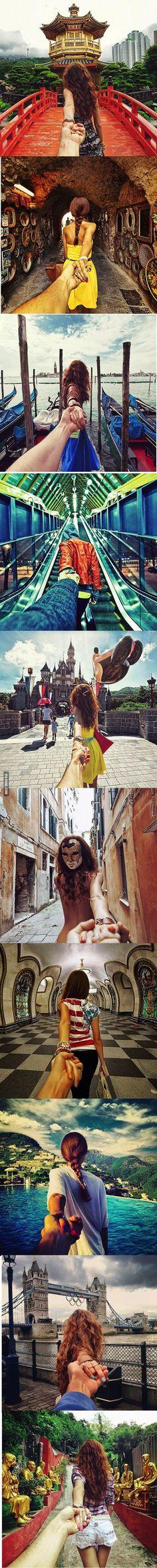 Travel : Photographer's girlfriend leads him around the world. <3
