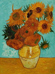 Impressionism by Vincent Van Gogh. This painting is ranked one of the most famous paintings. Even though the image is quite simple (of sunflowers) I think it's really effective. The colors work really well together and its clear to see what the image is of. Even though the painting is mostly 2D it gives a 3D feel to the vase.