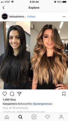goal by july 2019 Brown Hair Balayage, Blonde Hair With Highlights, Brown Blonde Hair, Hair Color Balayage, Brunette Hair, Ombre Hair, Fall Highlights, Blonde Honey, Honey Balayage
