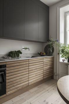 Nordic Kitchen, Kitchen Dining, Kitchen Decor, Contemporary Kitchen Design, Home Trends, Nordic Design, Kitchen Interior, Architecture Design, House Design