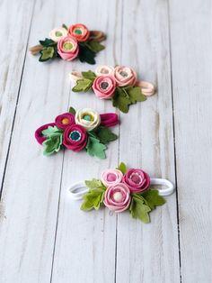 Diy Baby Headbands, Felt Headband, Flower Crown Headband, Flower Headbands, Felt Flowers, Diy Flowers, Fabric Flowers, Paper Flowers, Flower Diy