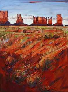 Monument Valley Oil Painting by Erin Hanson