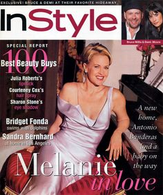 InStyle Magazine Covers: 1996 - March, Melanie Griffith from Sandra Bernhard, Alexa Ray, Lauren Holly, Bridget Fonda, List Of Magazines, Instyle Magazine, Cosmopolitan Magazine, Melanie Griffith, Goldie Hawn