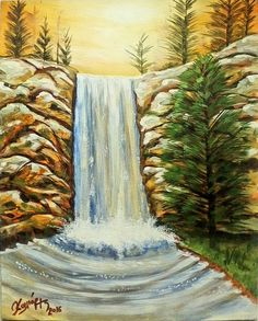 water fall acrylic on canvas