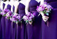 purple & lilac bridesmaids