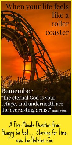 If your life feels Like a roller coaster, this 5-minute devotion will help bring perspective and hope.